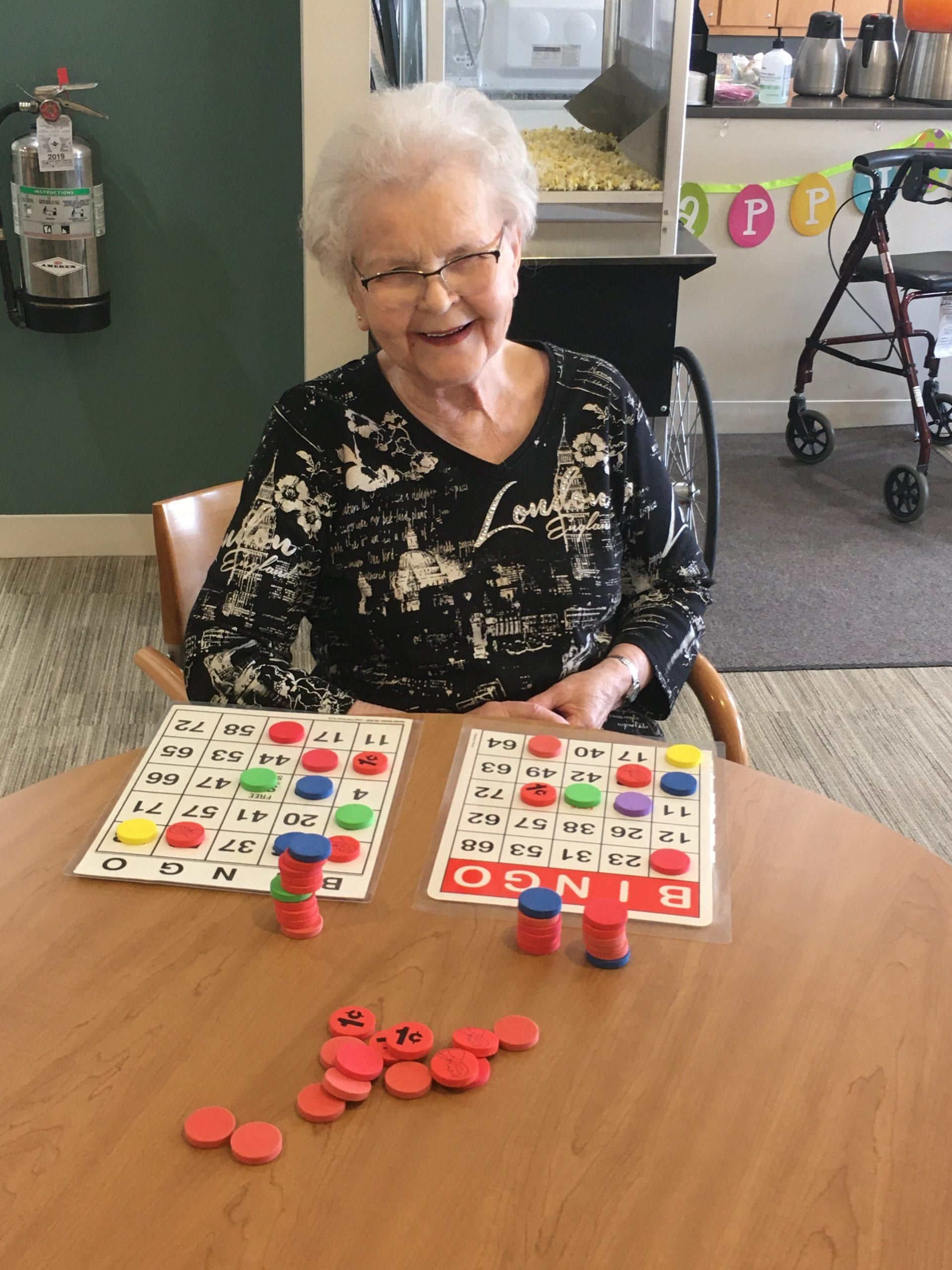 Senior woman playing games